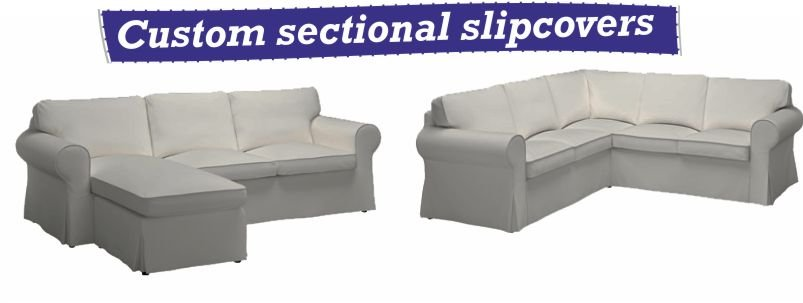 custom sectional slipcovers