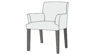 custom dining chair t seat