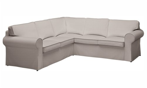 Custom U shaped sectional slipcovers | CURVED Sectional couch covers
