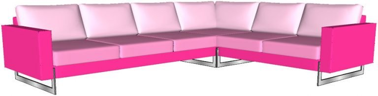 curved sofa front